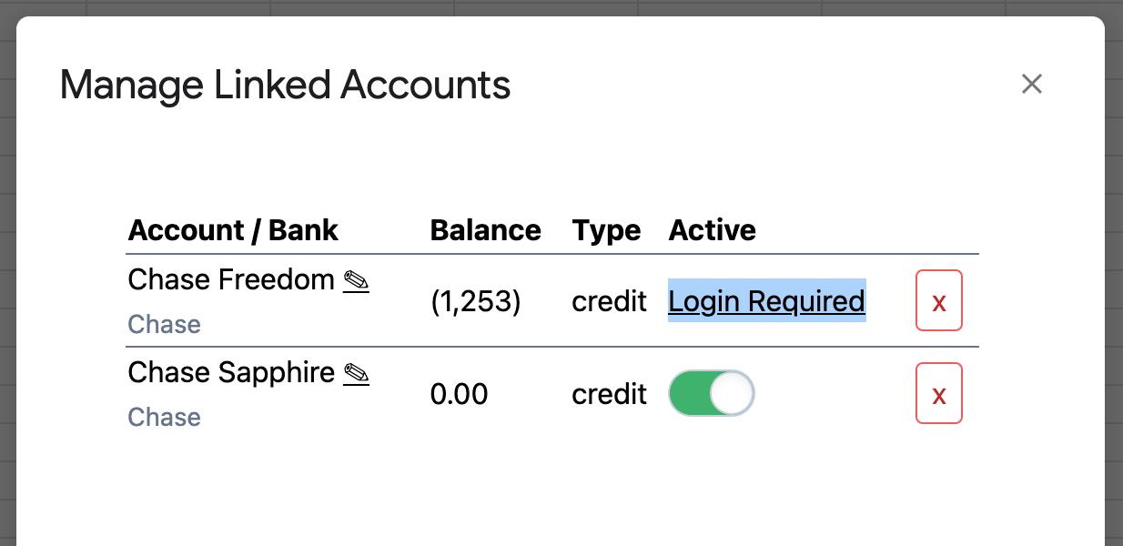 "You can now re-link accounts from the ""Manage Accounts..."" screen when they get out of sync"
